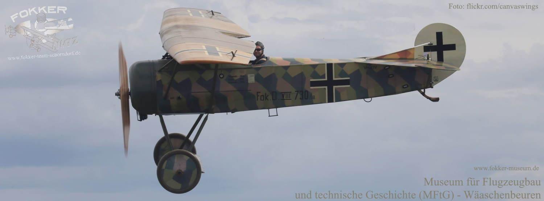 Museum für Flugzeugbau und technische Geschichte - Station 18 Neubau Fokker D.VIII