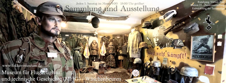 Museum für Flugzeugbau und technische Geschichte - Station 21 Entwicklung der deutschen tarnanzüge 1929-1998