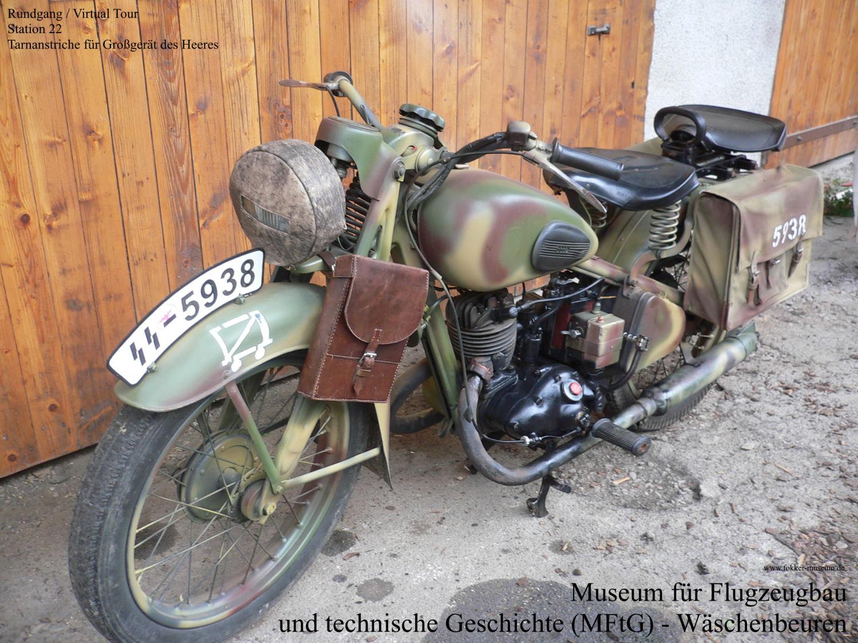 Museum für Flugzeugbau und technische Geschichte - Station 22 Anstrich für Großgerät des deutschen Heeres