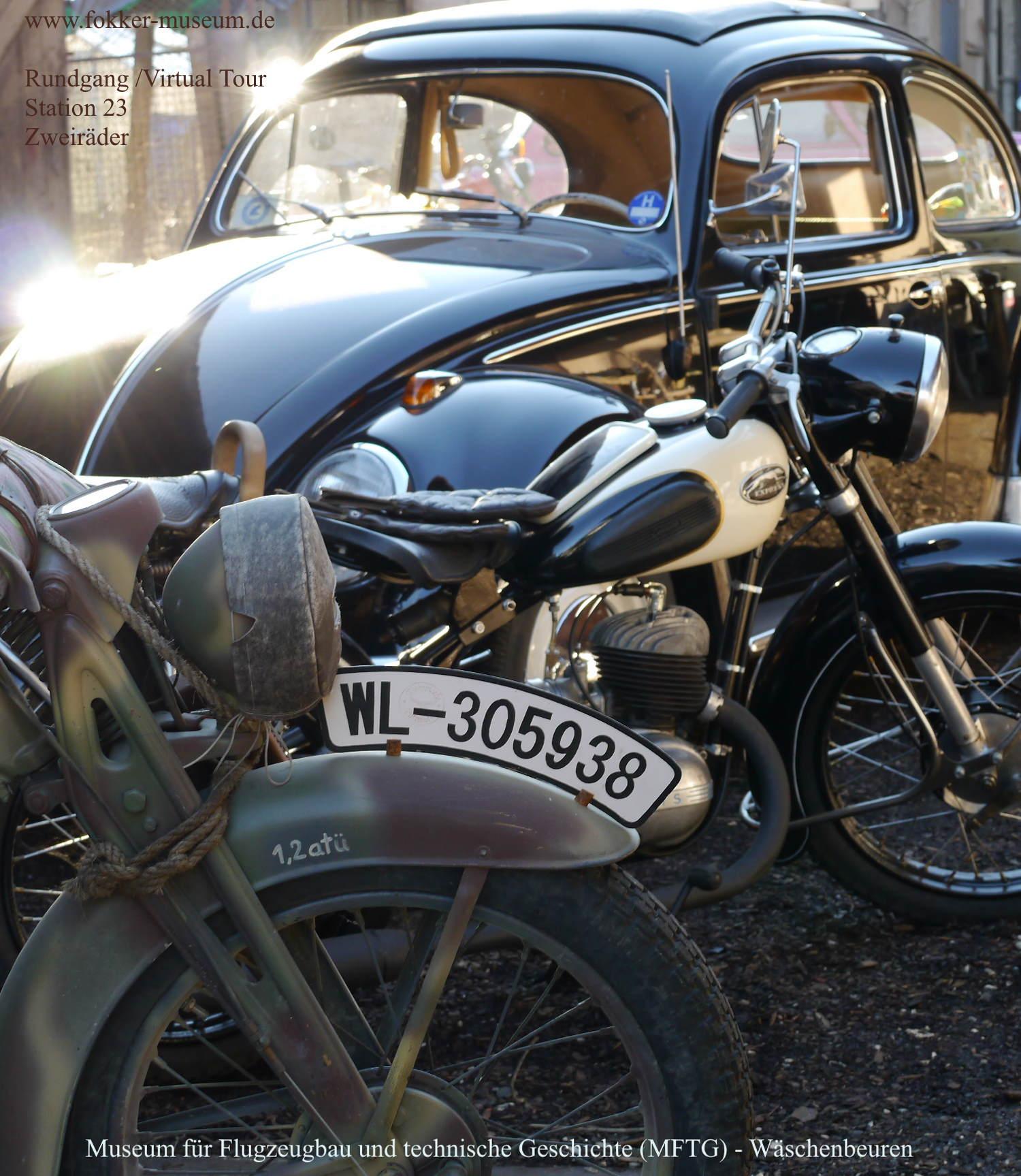 Museum für Flugzeugbau und technische Geschichte - Station 23 Zweiräder