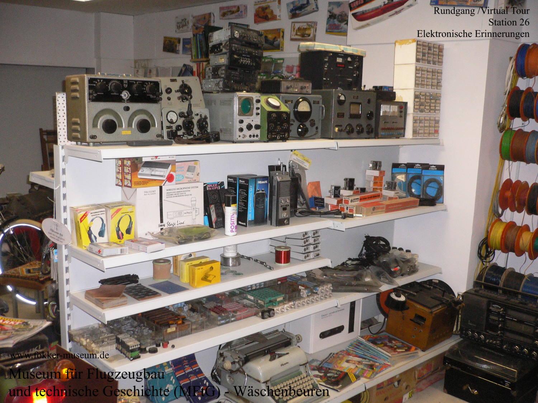 Museum für Flugzeugbau und technische Geschichte - Station 26 Elektronische Erinnerungen
