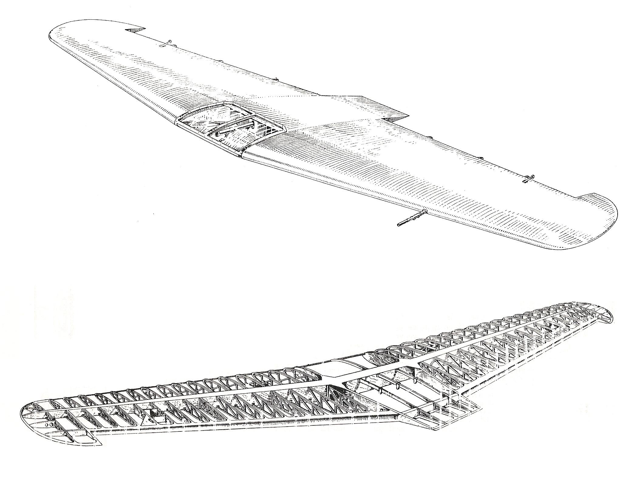 Skizze des Flügelaufbaus