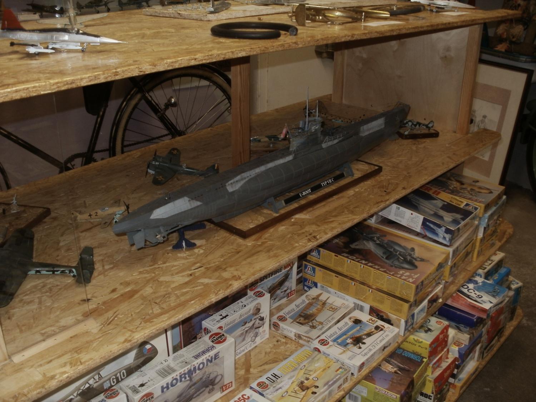 Auch Revells 1/72 Unterseeboot VIIC findet sich in der Ausstellung.