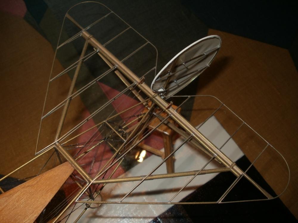 Eigenbau der Fokker Dr.1 im Maßstab 1/15.Zwei jahre waren für den Bau dieses Modells notwendig.