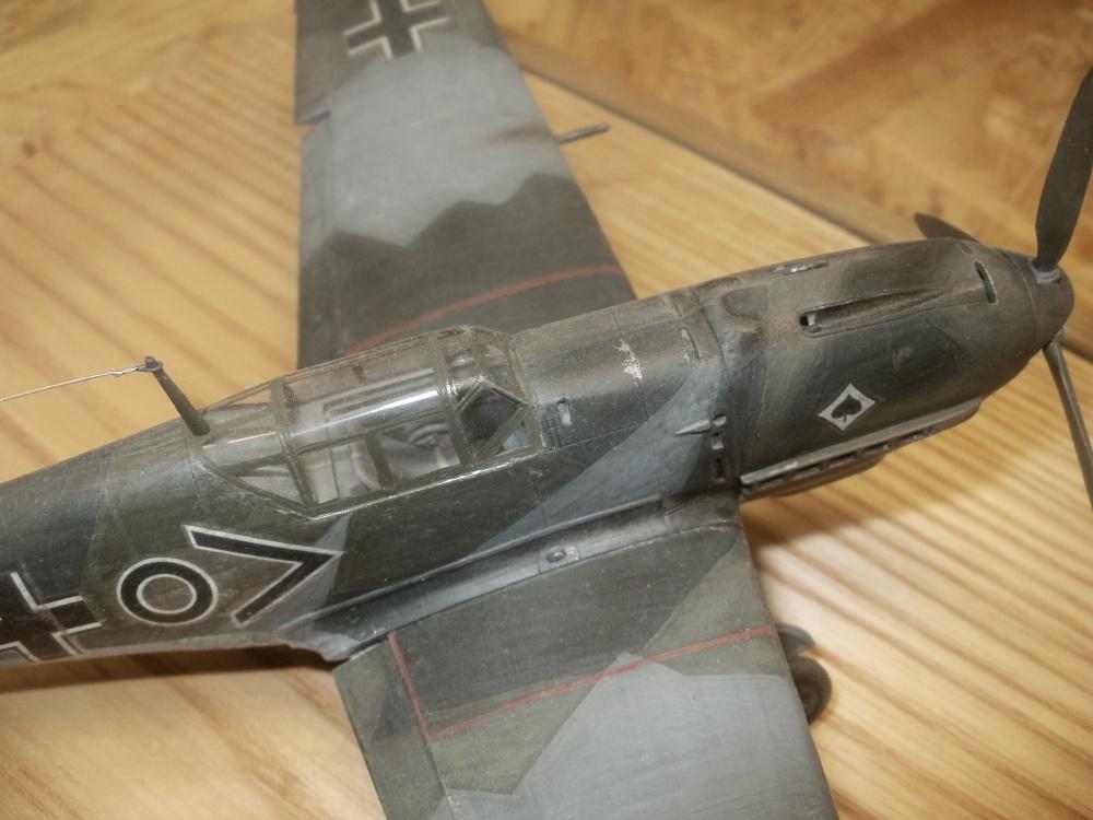 Bf 109 Stab 1./JG 53, stationiert in Wiesbaden-Ehrheim 1939. Die Maschine wurde von Hauptmann Erich Mix geflogen. Hobby Craft 1/48