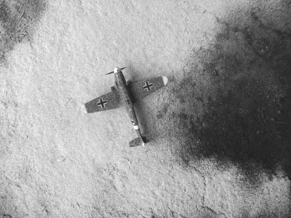 Me 109 G6 in der Tropenversion. Geflogen so in der 1. Gruppe des Jagdgeschwaders 77. 1943 in Tunis - Nord Afrika - Hobby Craft 1/48