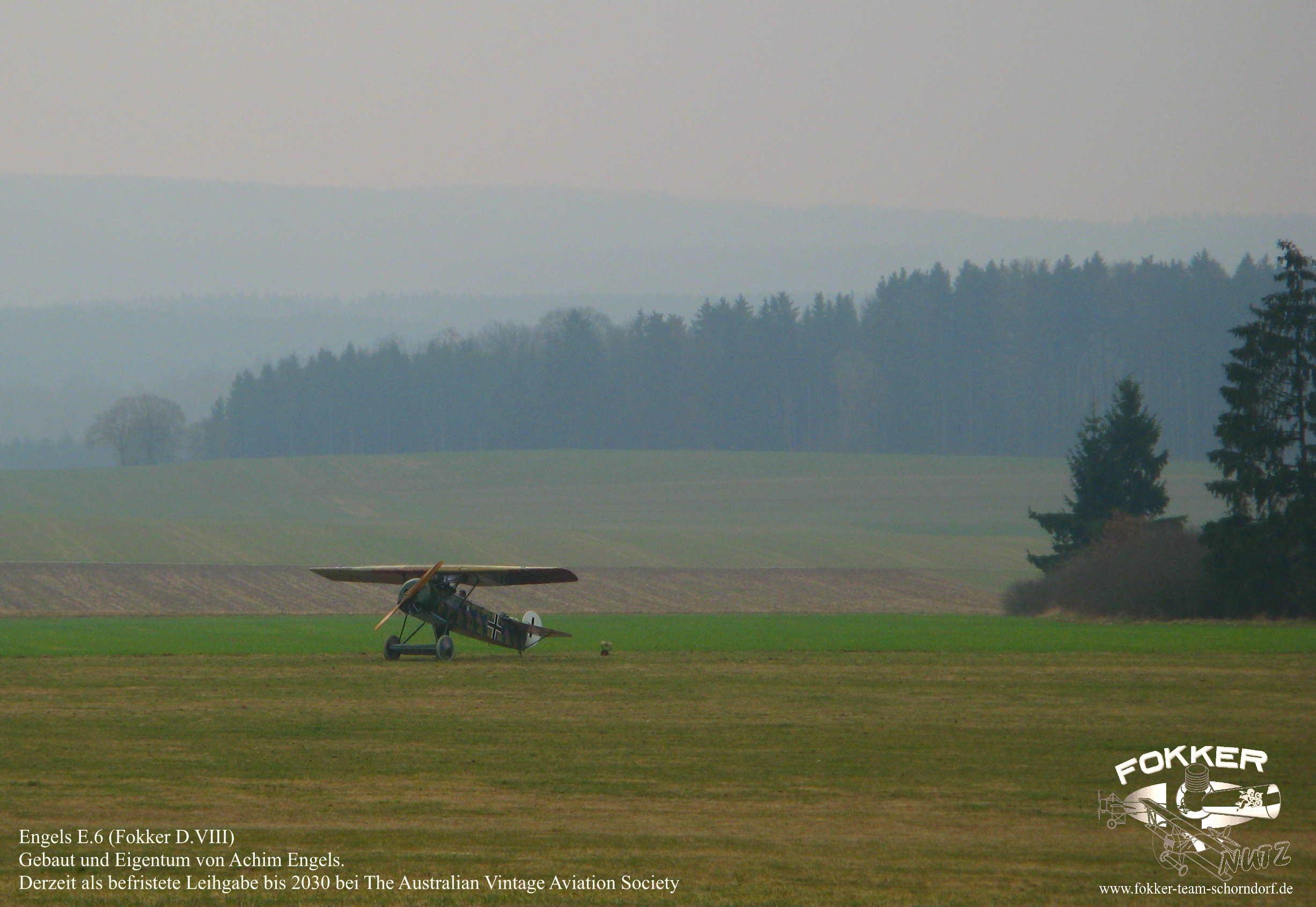 Engels E.6 (Fokker D.8) - Nachbau kurz nach der fertigstellung