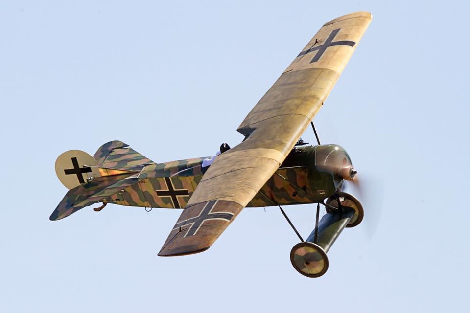 Again my own Replica D.VIII in flight.