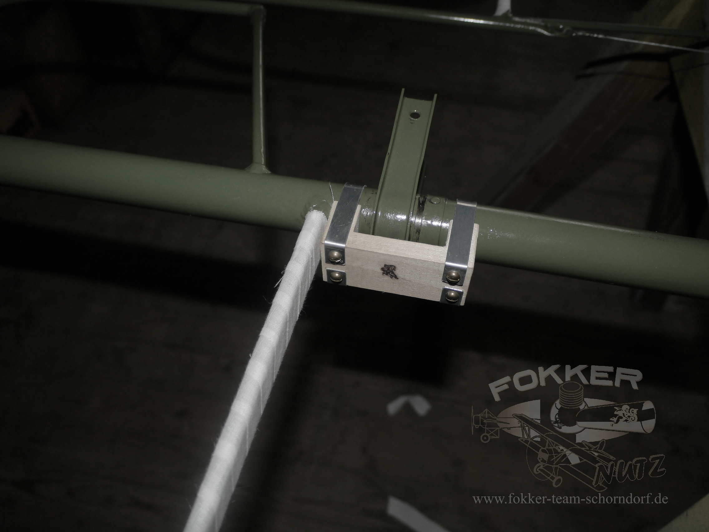 Engels E.1 (Fokker Dr.1) - Finished aileron with fabric wrapped ribs awaiting covering.