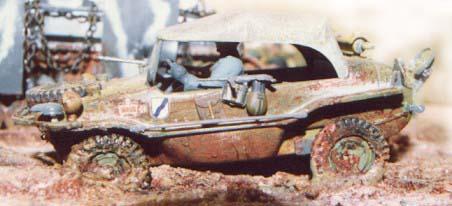 VW Schwimmwagen. Hersteller: Tamiya, gebaut von Achim Engels