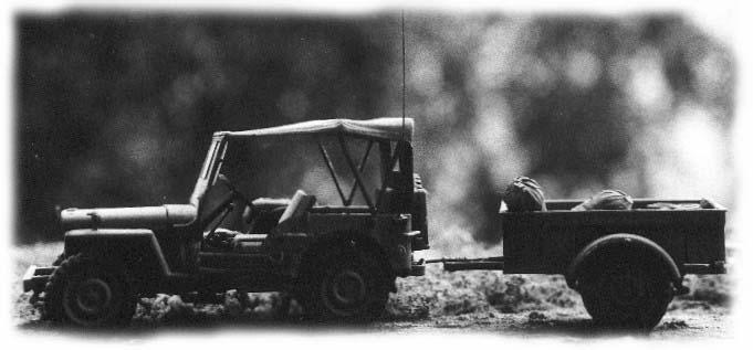 1:35 Modell des berühmten Willy`s Jeep. Hersteller Tamiya, erbaut von Achim Sven Engels.